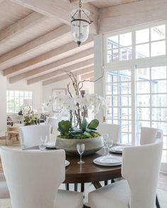 Feast Your Eyes: Gorgeous Dining Room Decorating Ideas - Find that you are not using your dining room nearly enough? Your space might be too formal, which is fine, but you have to eat somewhere! A beautiful breakfast table adjacent to your kitchen can provide an everyday dining space that is more functional and inviting than a formal dining room.