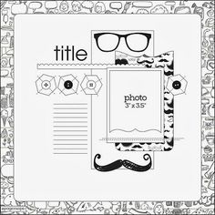 LIZZY HILL: The Scrapbook Store & Chic Tag's March Sketches...