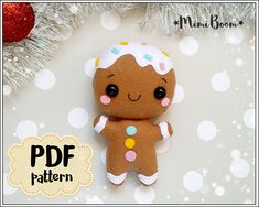 This is a digital tutorial on how to make Gingerbread Man Christmas ornament from felt Included step by step instructions, pictures and full size pattern pieces (no need to enlarge or resize). Its completely hand sew and you dont need a sewing machine. THIS IS NOT A FINISHED TOY. THIS IS A PDF PATTERN DOWNLOAD. All needed materials you must to purchase yourself. Approx. size of toy is: about 4.5 inch (11.5 cm) tall. PDF tutorial includes: - Step by step pictures - English step by step ins...