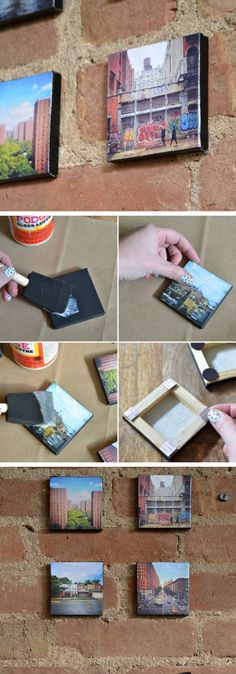 DIY Canvas Mounted Instagram Photos | 20 DIY Fathers Day Gift Ideas from Wife | DIY Holiday Gift Ideas for Men