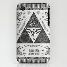 Legend of Zelda Kingdom of Hyrule Crest Letterpress Vector Art iPhone & iPod Skin Cell Phone Covers, Cute Phone Cases, Iphone Cases, Iphone Skins, Iphone 4s, Geek Games, Legend Of Zelda, Letterpress, Vector Art