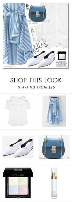 """Add Some Flair: Ruffled Tops"" by svijetlana ❤ liked on Polyvore featuring SJYP, Givenchy, Sisley, shein and ruffledtops"