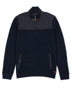 Long sleeve quilted layering piece - Navy | Tops & T-shirts | Ted Baker ROW