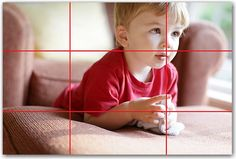 The rule of thirds.... (This site has TONS of photo helps, tips, and tricks.  Awesome!!!!)
