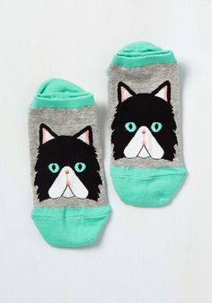 Read Paw About It Socks in Cat. Catch up on current events or dig into a new documentary with your feet kicked up in these quirky cat socks! #multi #modcloth