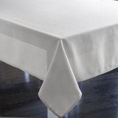 """Harman Royal 52""""x70"""" Tablecloth - White"""