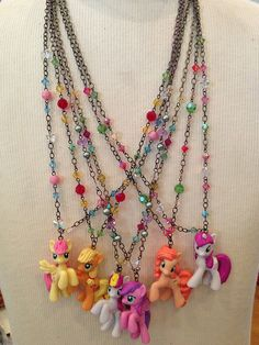 My Little Pony necklaces by Once Upon a Smorgasbord