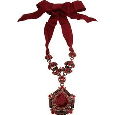 Lanvin Crystal Babylon Pendant Necklace (£1,135) ❤ liked on Polyvore featuring jewelry, necklaces, accessories, lanvin, red, crystal necklace, teardrop necklace, round crystal pendant, red pendant and red crystal pendant
