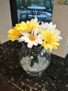 DIY Office flower pens :)
