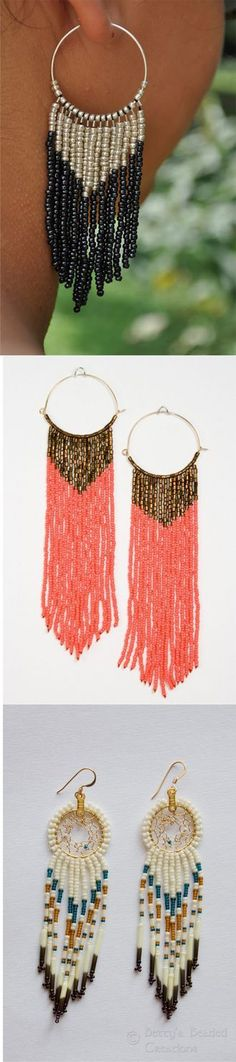dream catcher earings and other great tutorials! | See more about Dream Catchers, Catcher and Dream Catcher Earrings.