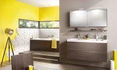 Meuble salle de bains Inspiration 120 wengé brun de Delpha