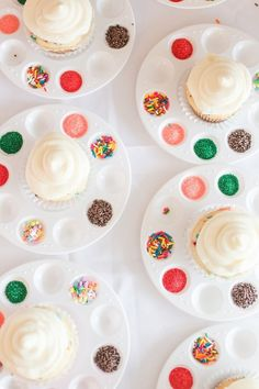 individual paint palettes for decorating cookies/cupcakes