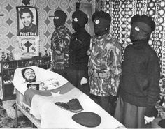 """Thirty-three years ago today: """"Raymond McCreesh and Patsy O'Hara – Died on 21 May 1981 in the H-Blocks of Long Kesh after joining Hunger Strike together"""" Post Mortem Photography, War Photography, Bobby Sands, Northern Ireland Troubles, Irish Republican Army, Irish Famine, Last Rites, Hunger Strike, Political Prisoners"""