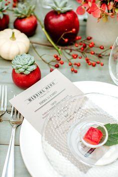 Check out these gorgeous winter fruit wedding decor ideas.