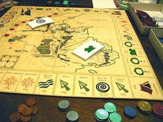 I just love this idea for a game board!  Lord of the Rings!