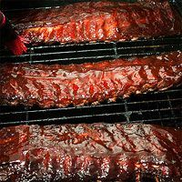 Sweet & Smoky Ribs----Magic Dust Spice Rub--- 2 tablespoons kosher salt, 1/4 cup paprika, 2 tablespoons chile powder, 2 tablespoons granulated garlic, 2 tablespoons ground cumin, 2 tablespoons sugar, 1 tablespoon cayenne, 1 tablespoon freshly ground black pepper, 1 tablespoon dry mustard