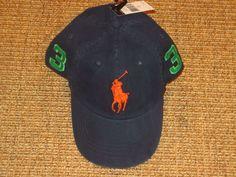 0749adfe967df NEW POLO RALPH LAUREN MEN S BIG PONY BASEBALL CAP CHINO HAT NAVY BLUE   PoloRalphLauren