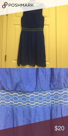 """Blue dress Royal blue """"sailor"""" dress. I have loved this dress! Only worn a few times -- to a formal banquet, to work, to church, to class. Can be dressed up or down. It doesn't look like it in the picture but the dress is royal blue. It's very comfortable and has a linen top layer. AB Studio Dresses Mini"""