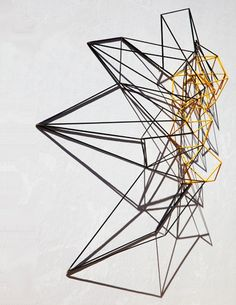 Dion Horstmans Lightspeed #6/Magellanic 'Concerned with creating new volume and momentum with line, light and shadow, Horstmans' sculptures bridge the space between the two and three dimensional with their suggestions of velocity and space.'