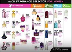 Avon Fragrance Selector for Women #fragrance #perfume #cologne #avon www.youravon.com/jjones