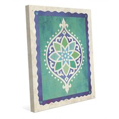 """Click Wall Art Star Eye Teal Graphic Art on Wrapped Canvas Size: 10"""" H x 8"""" W x 0.75"""" D"""