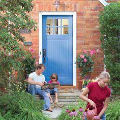 best front door colors for brick homes | ... Exterior Door: Installing Exterior Door Red Brick Wall – Vizimac