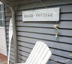 Beachhouse-stil Schild selber machen, anleitung tutorial DIY