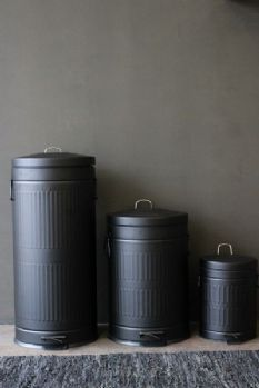 Matt Black Dustbin Pedal Bin 3 Sizes Available Kitchen Art Bins