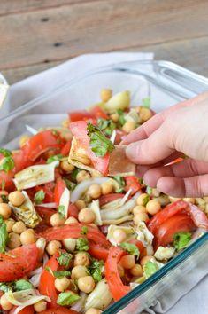 Tomato, Artichoke & Chickpea Salad