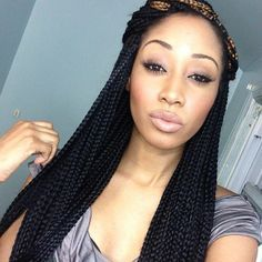 Full Head Crochet Box Braids : ... Braids on Pinterest Box braids, Full of and Box braids hairstyles