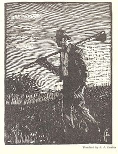 A Man of Family: Liberator Magazine Art, Oct 1918, pg 11 woodcut by J.J.Lankes