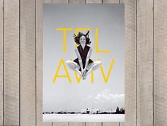 TLV Vintage Poster | Perfect interior design choice for Tel Aviv lovers.