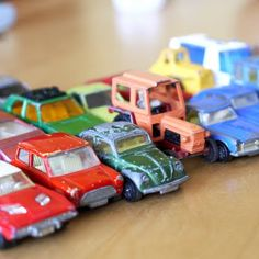 these are my childhood cars. tomboy? moi?