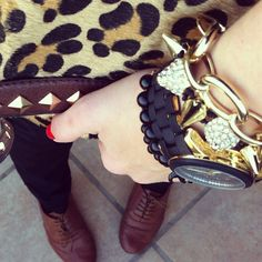 #animalprint #gold #black