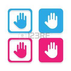 Vector hand icon, Illustration  photo