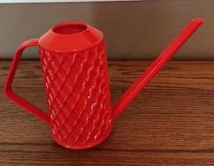 Plastic Durable Watering Can Long Spout Flower Garden Tools Stylish Handy Plastic Watering Can, Germany, Canning, Red, Vintage, Deutsch, Vintage Comics, Home Canning, Conservation