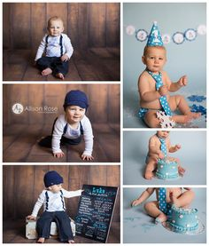 Allison Rose Photography 1st Birthday Session 1st Birthday Boy www.facebook.com/allisonrosephotography