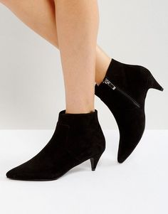 ASOS RED CARPET Ankle Boots - Black: Boots by ASOS Collection, Faux-suede  upper, Side-zip fastening, Pointed toe, Low heel, Wipe with a ...