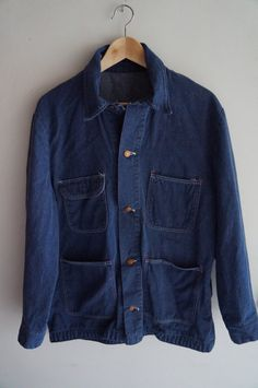 70s Seafarer Chambray Work Shirt Blue Men/'s Medium Button Down Worn In Distressed Oil Spots Grungey