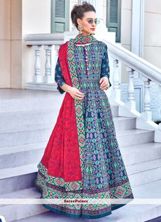 Embroidered Multi Colour Sangeet Designer Gown Readymade Salwar Kameez, Cotton Salwar Kameez, Kurti, Indian Dresses For Women, Salwar Kameez Online Shopping, Printed Gowns, Gowns Online, Abaya Fashion, Designer Gowns