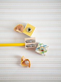 pencil sharpeners for back to school #crafts #backtoschool   linked to today's mama 8/10/11 http://dallas.todaysmama.com/2011/08/back-to-school-crafting/