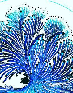 Colonias de bacterias forman imágenes psicodélicas repletas de color.