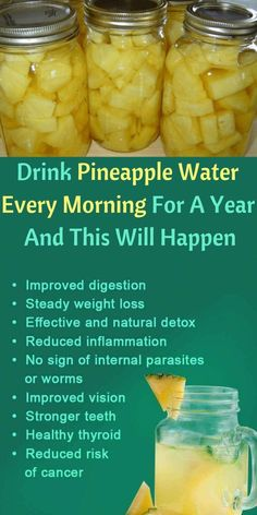 Drink Pineapple Water Every Morning For A Year And This Will Happen