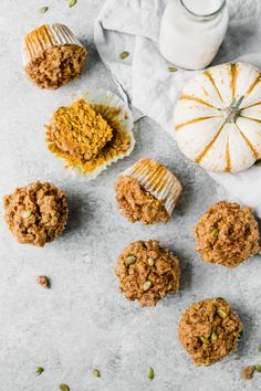 The BEST Healthy Pumpkin Muffins that are soft, light and fluffy! These muffins are perfect for a fall-inspired breakfast on the go, a quick and healthy snack, or a guilt-free treat. Healthy Snack Options, Good Healthy Snacks, Healthy Breakfasts, Eating Healthy, Healthy Eats, Clean Eating, Lemon Recipes, Fall Recipes, Brunch Recipes