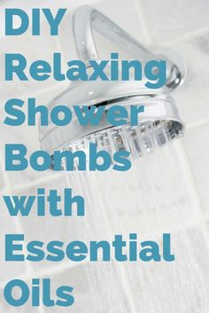 DIY Shower Bombs with Essential Oils. No time for a bath? Make the easy shower bombs and relax in your shower instead. Great gift idea. Shower Bombs, Bath Bombs, Essential Oil Uses, Doterra Essential Oils, Young Living Oils, Young Living Essential Oils, Shower Steamers, Diy Shower, Shower Ideas