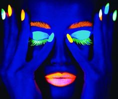 Glow in the Dark Makeup  it has a list of different glow make up!