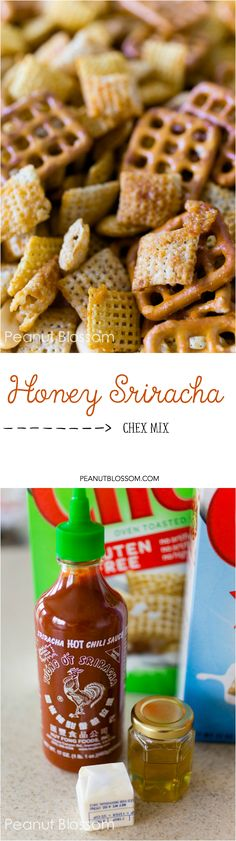 Sweet and spicy and totally addicting! Check out this amazing honey sriracha Chex Mix recipe. Only takes a few minutes in the microwave and you're ready to go. Perfect for your next party or movie night!