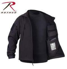 55385-B.jpg Rothco's Concealed Carry Soft Shell Jacket is the ultimate tactical jacket that features a waterproof outershell and inner lightweight, breathable moisture material that makes it ideal for extreme temperatures and activities.