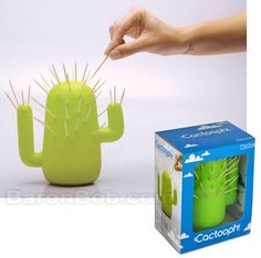 Cactooph Cactus Shaped Toothpick Holder by Just Mustard, http://www.amazon.com/dp/B004S7FY0W/ref=cm_sw_r_pi_dp_OjhTrb1FRZ6DF