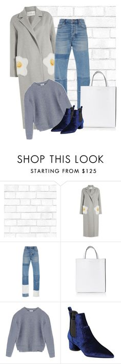 """Yolk"" by cherieaustin on Polyvore featuring Tempaper, Anya Hindmarch, Rebecca Taylor, Marni, Acne Studios and Kendall + Kylie"